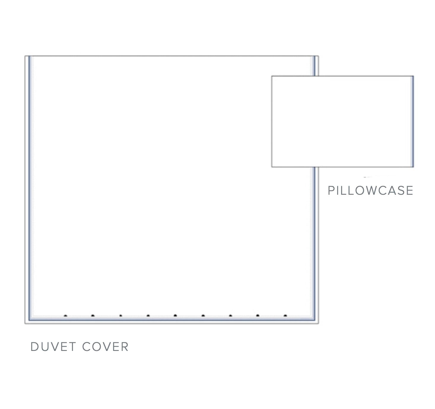 Cavriglia Embroidery Bedding | Dea Fine Linens Hotel Sheets & Duvets - Bed Diagram 1