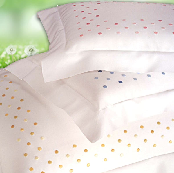 Viareggio Embroidery by Dea Linens | Dots Embroidered Bedding