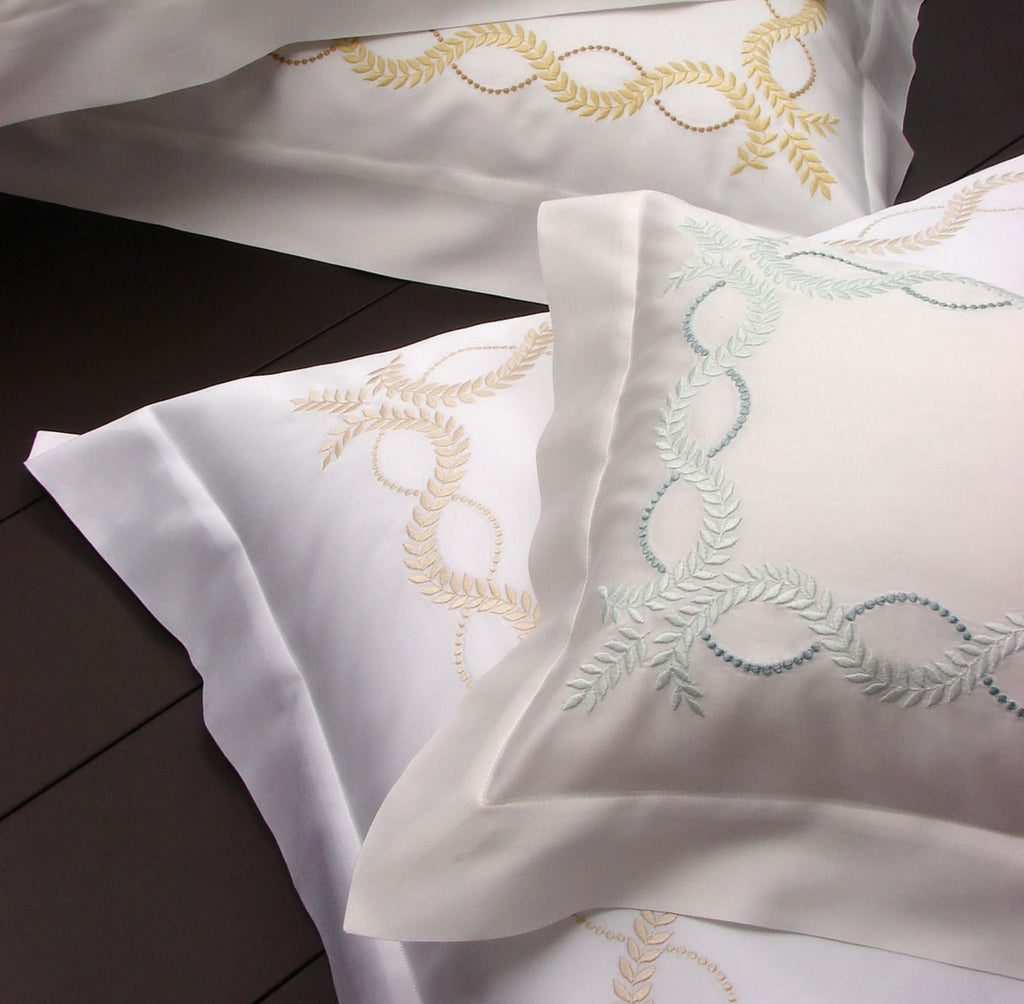 Diana Embroidery Bedding | Sheets, Duvets & Shams by Dea Fine Linens
