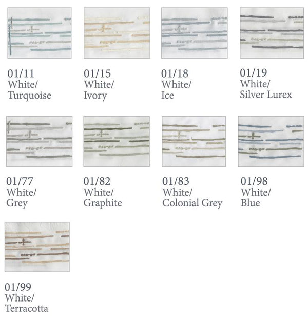 Dea Linens Graffiti Embroidery Bedding Swatches