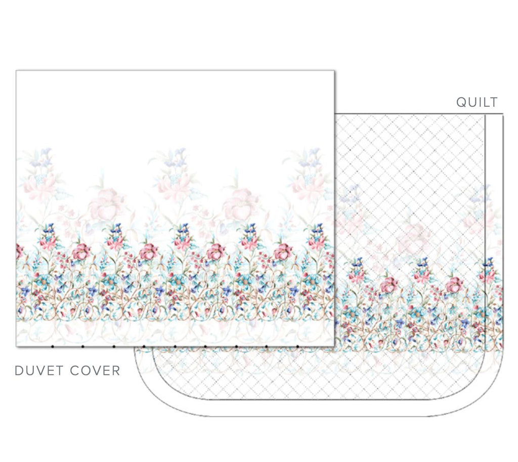 Dea Linens - Liberty Bedding Diagram of Duvet Cover & Quilt
