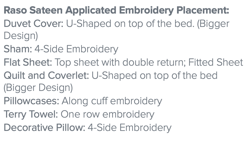 Carrara Embroidered Bedding - Description 1 -Dea Fine Linens