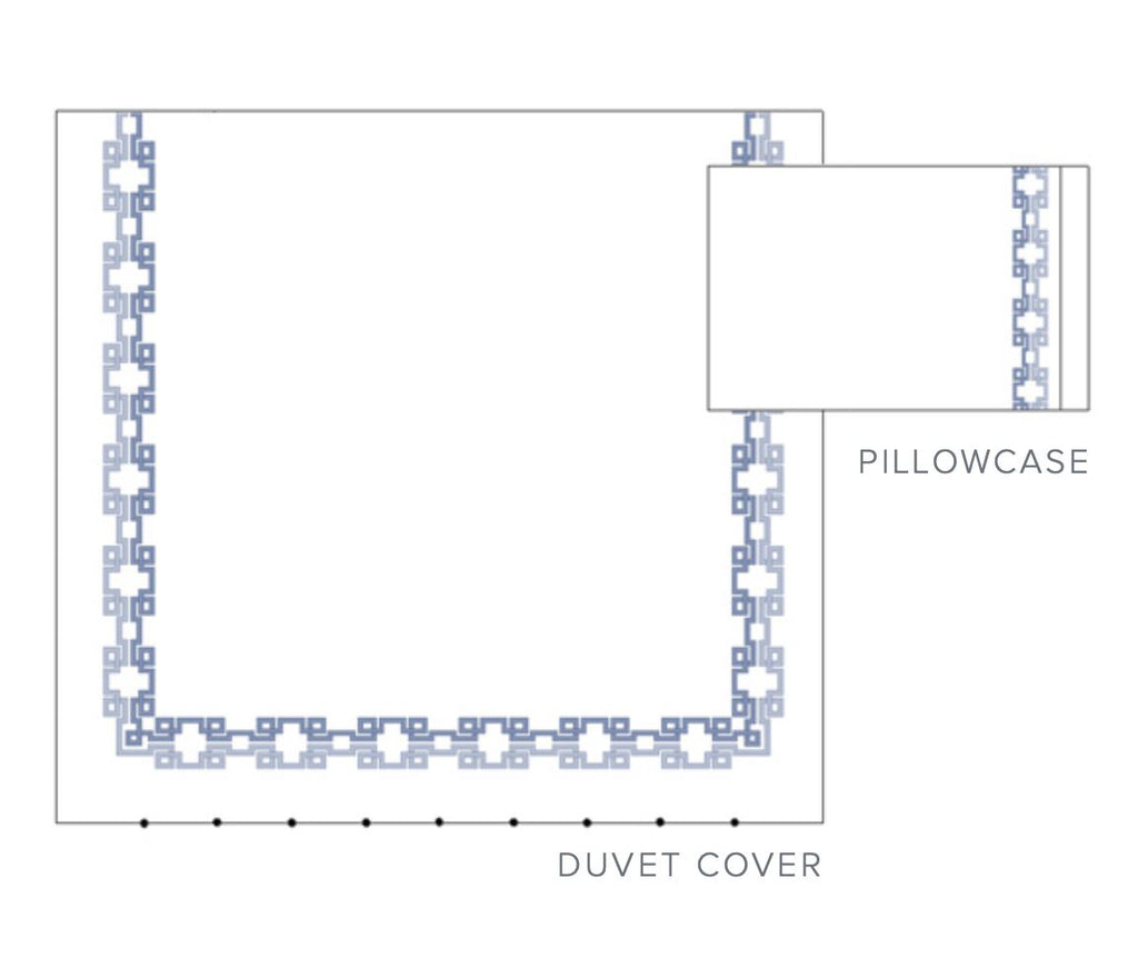 Carrara Embroidered Bedding - Layout 2 -Dea Fine Linens