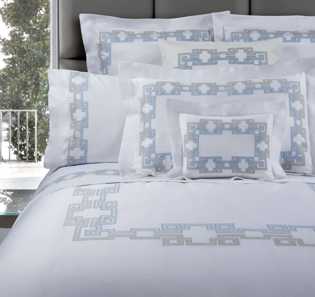 Carrara Embroidery Bedding | Dea Fine Linens Duvets, Sheets, Shams