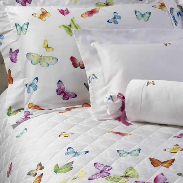 Dea Fine Linens - Farfalle Butterfly Bedding at Fig Linens and Home
