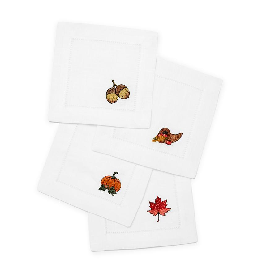 Autunno Cocktail Napkins by Sferra