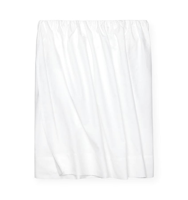 fig linens - sferra celeste white bed skirt