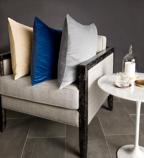 Fig Linens - Velluto Decorative Pillows by Sferra