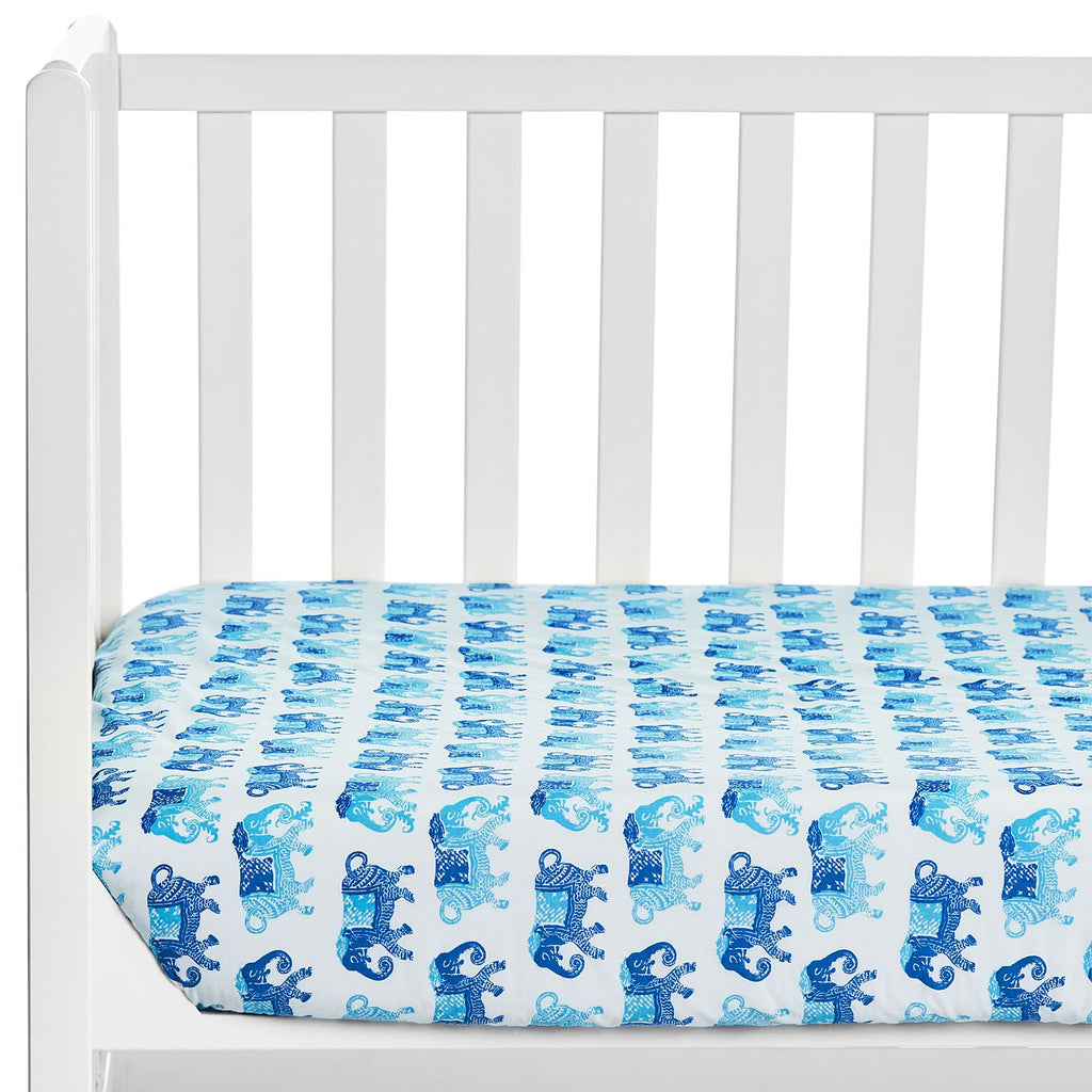 Gamana Lapis Crib Sheet by John Robshaw | Fig Linens