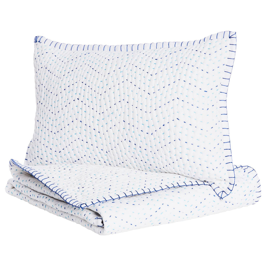 Pindi Lapis Mini Blanket & Sham Set by John Robshaw | Fig Linens