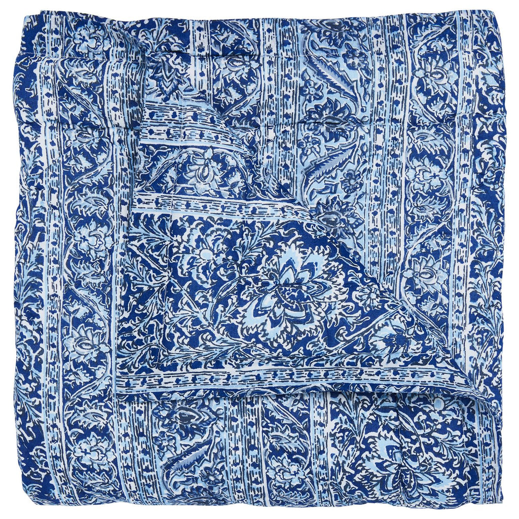 Calana Indigo Mini Blanket by John Robshaw | Fig Linens