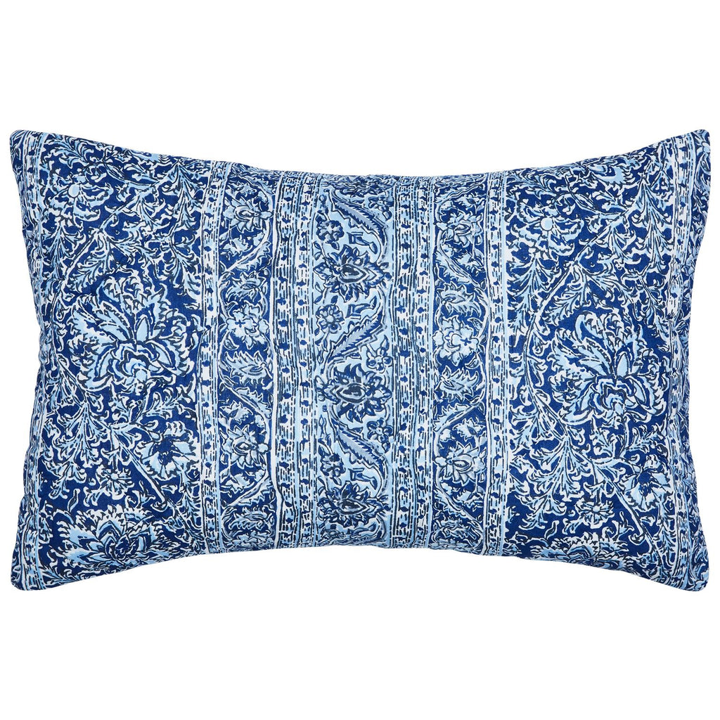 Calana Indigo Mini Sham by John Robshaw | Fig Linens