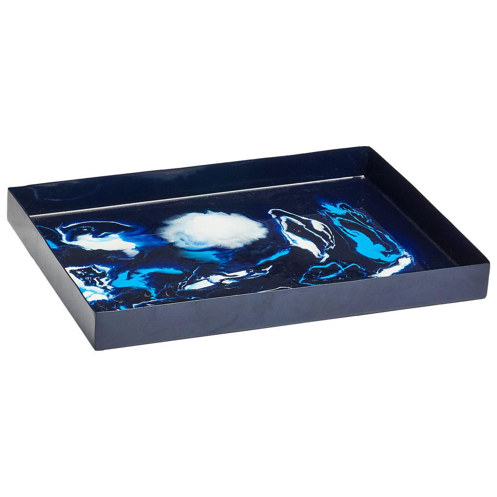 Pavesa Indigo Tray by John Robshaw | Fig Linens and Home