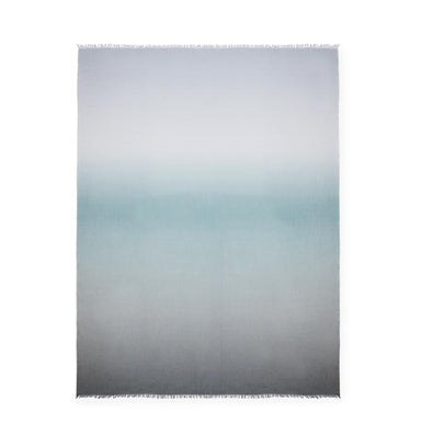 Bosa Aquamarine Ombre Bed Scarf by Sferra | Fig Linens and Home