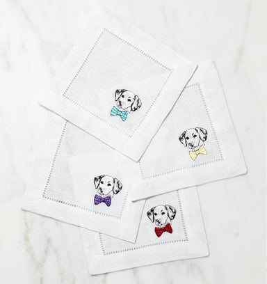 Cani Dalmatian Cocktail Napkins by Sferra - Set of 4 | Fig Linens