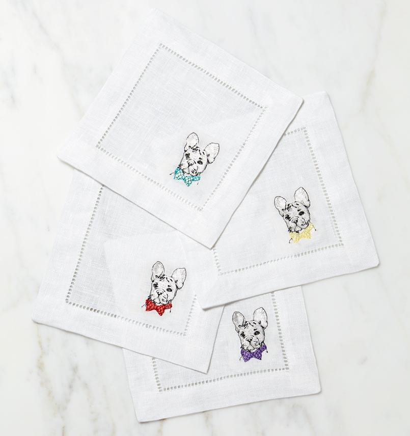 Cani French Bulldog Napkins (Set of 4) by Sferra
