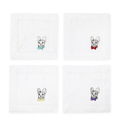 Napkins with French Bulldog by Sferra - Set of 4 | Fig Linens