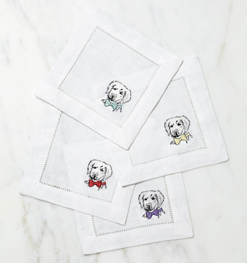 Cani Golden Retriever Napkins (Set of 4) by Sferra