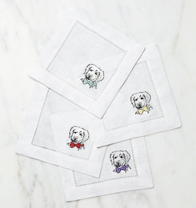 Golden Retriever Cocktail Napkins by Sferra - Set of 4 | Fig Linens