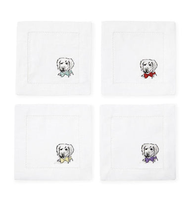 Fig Linens - Sferra Napkins - Cani Golden Retriever Set of 4
