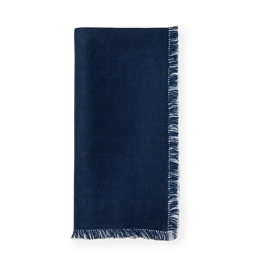 Doppio Navy & White Napkins (Set of 4) by Sferra