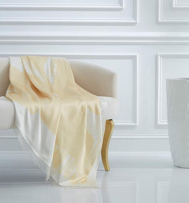 Unity Champagne Throw by Lucy Liu for Sferra | Fig Linens and Home