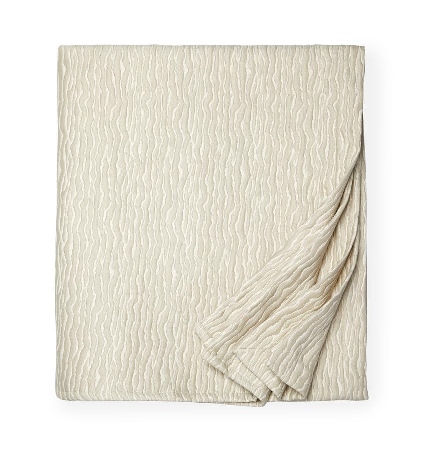 Fig Linens - Ondate Coverlets and Shams by Sferra - Dark Khaki Coverlet