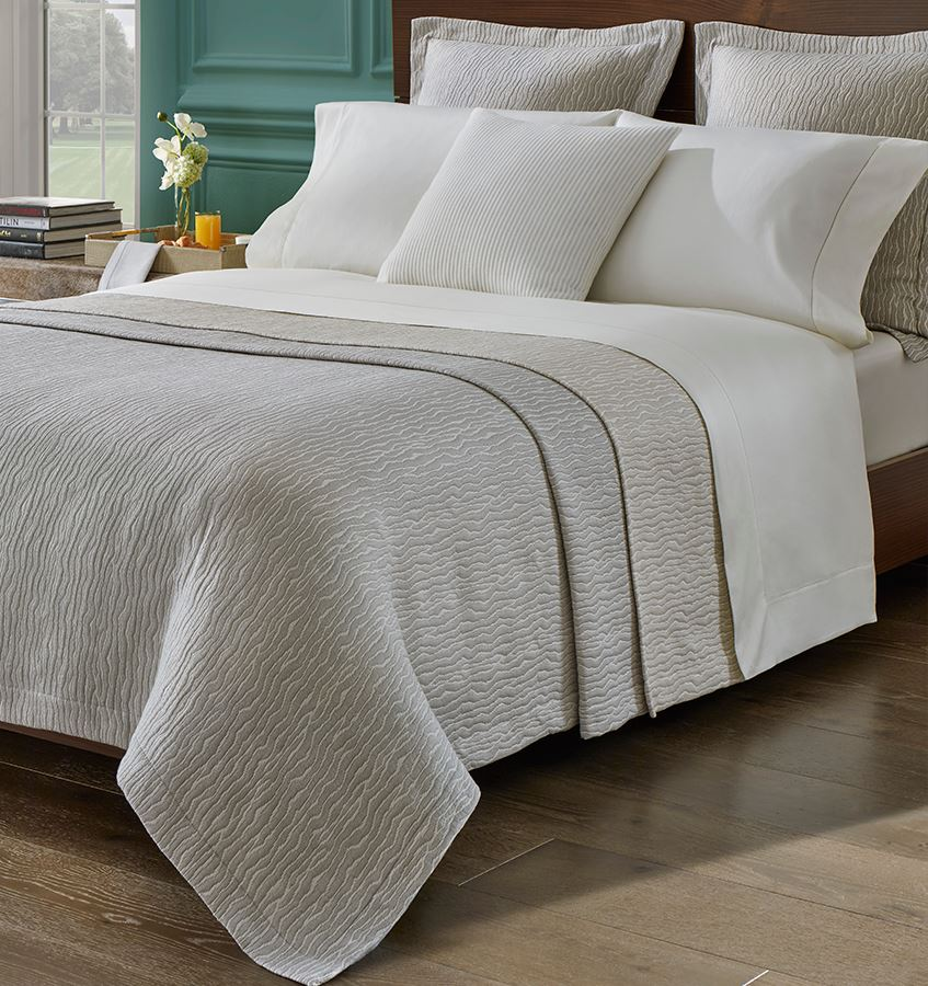 Ondate Coverlet & Sham by Sferra | Fig Fine Linens and Home