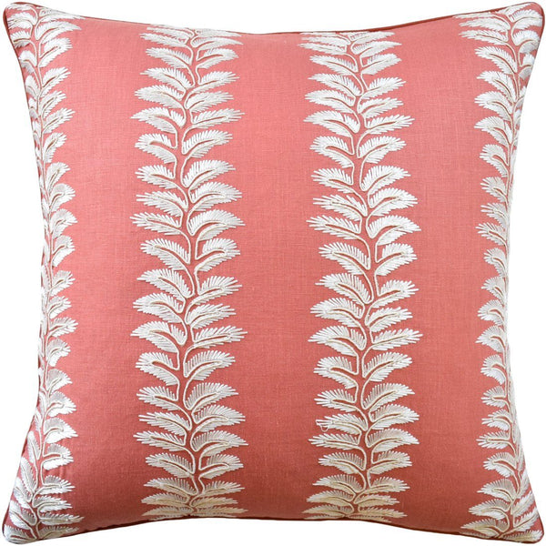 Bradbourne Coral Pillow - Ryan Studio at Fig Linens and Home