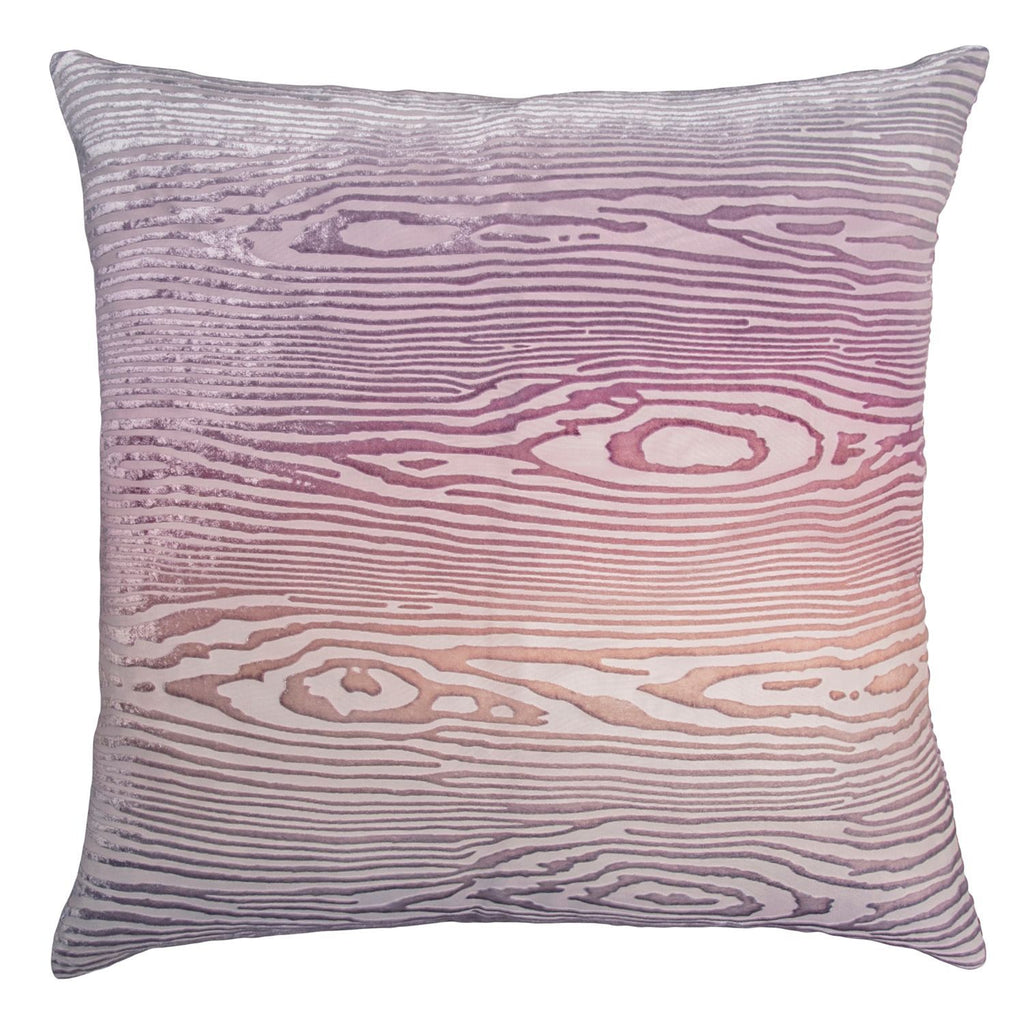 Opal Woodgrain Velvet Pillow by Kevin O'Brien Studio | Fig Linens