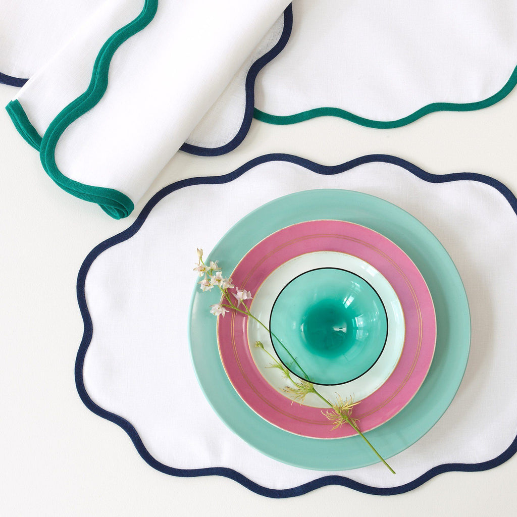 Matouk Scallop Placemats and Napkins | Fig Linens and Home