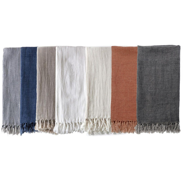 Fig Linens - Pom Pom at Home Montauk Blankets and Throws with Fringe