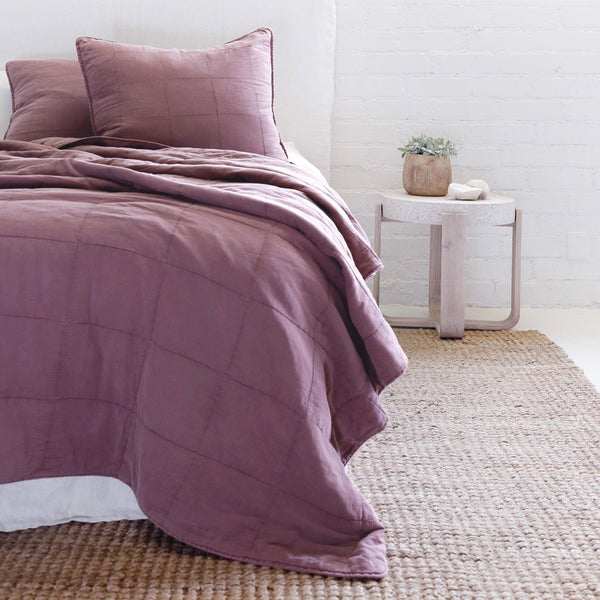 Pom Pom at Home - Antwerp Berry Coverlet Collection - Fig Linens