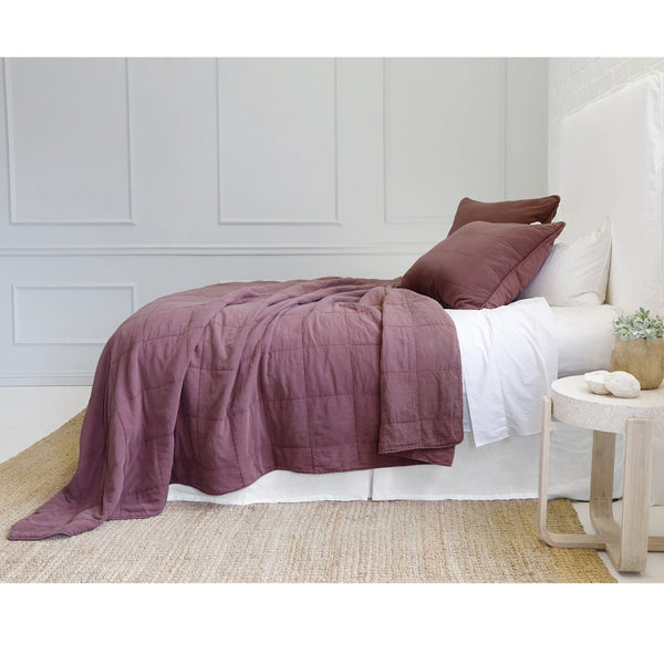 Fig Linens - Pom Pom at Home Bedding - Antwerp Berry Coverlets and euro sham