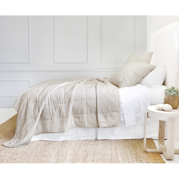 Fig Linens - Pom Pom at Home Bedding - Antwerp Natural Coverlet