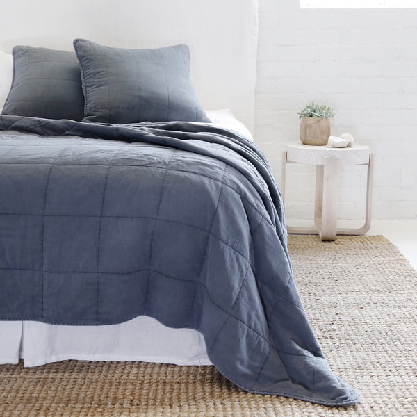 Pom Pom at Home - Antwerp Navy Coverlet Collection | Fig Linens and Home