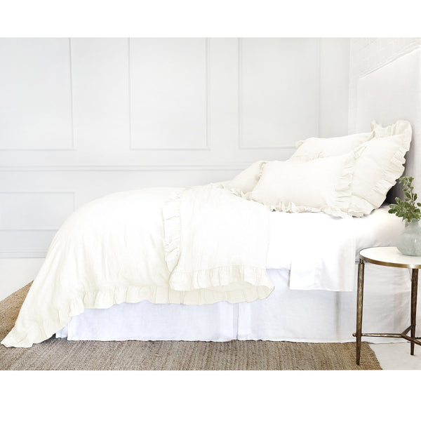 Fig Linens - Pom Pom at Home Charlie Cream Linen Bedding Collection