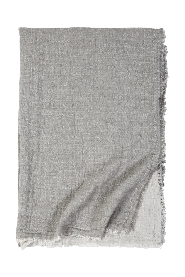 Fig Linens - Pom Pom at Home - Grey oversized throw