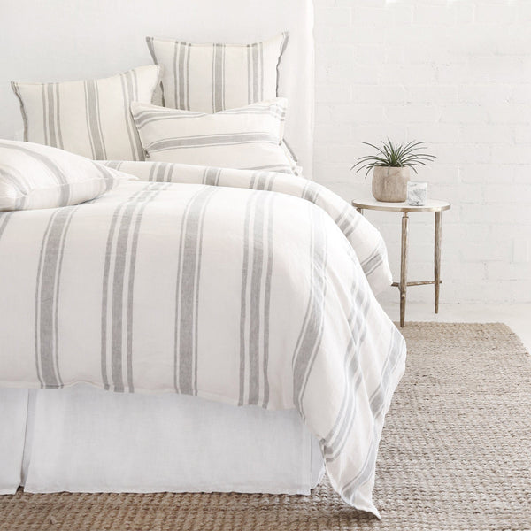 Pom Pom at Home - Jackson Cream & Grey Linen Duvet Collection- Fig Linens