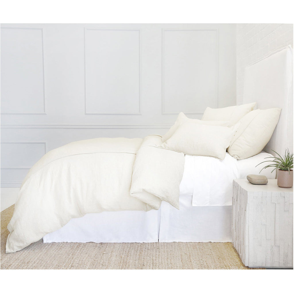 Pom Pom at Home - Louwie Cream Linen Duvet, Pillowcase, Sham - Fig Linens