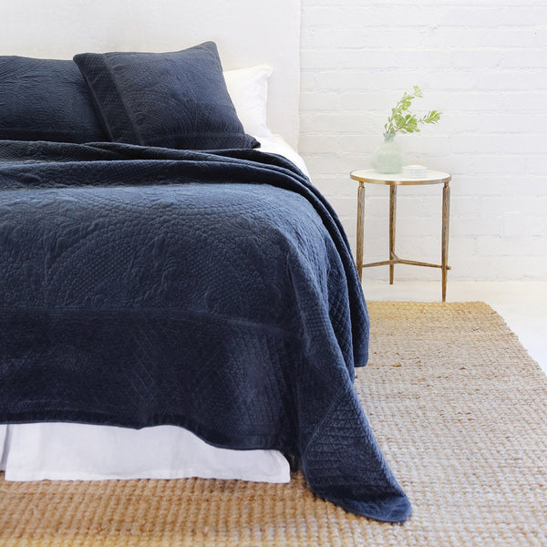 Pom Pom at Home - Marseille Navy Coverlet Collection - Fig Linens
