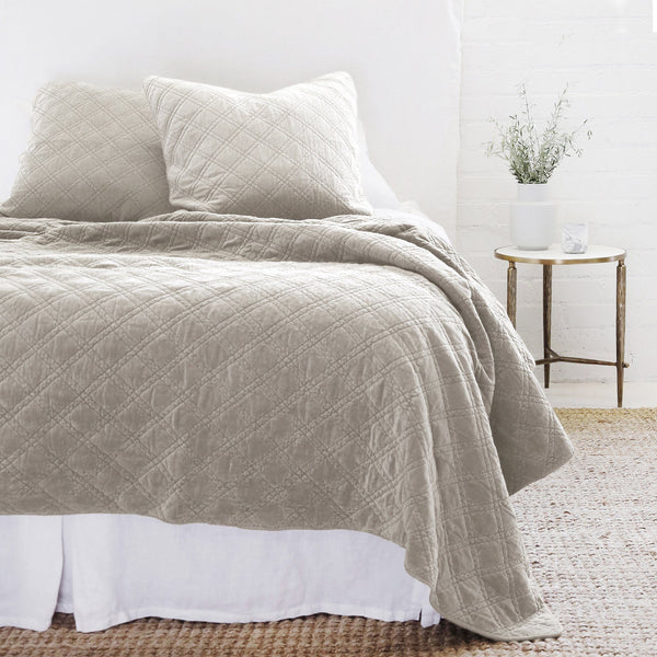 Pom Pom at Home - Brussels Taupe Coverlets & Large Shams - Fig Linens