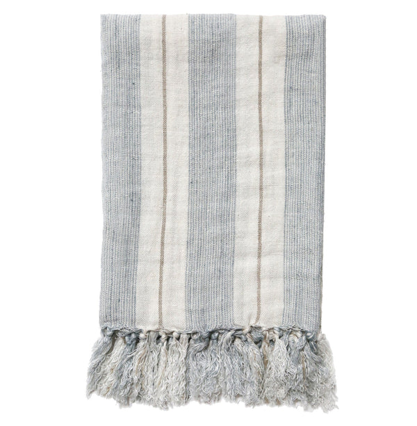 Pom Pom at Home - Laguna Ocean & Natural Linen Blanket - Fig Linens