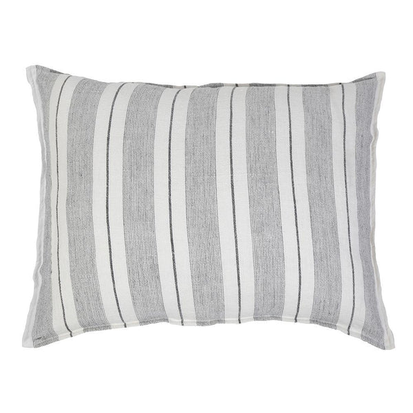 Pom Pom at Home - Laguna Grey & Natural Big Oversized Throw Pillow - Fig Linens