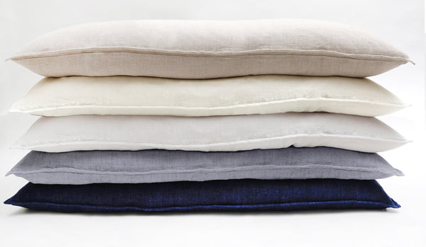 Pom Pom at Home - Montauk Linen Body Pillows - Fig Linens