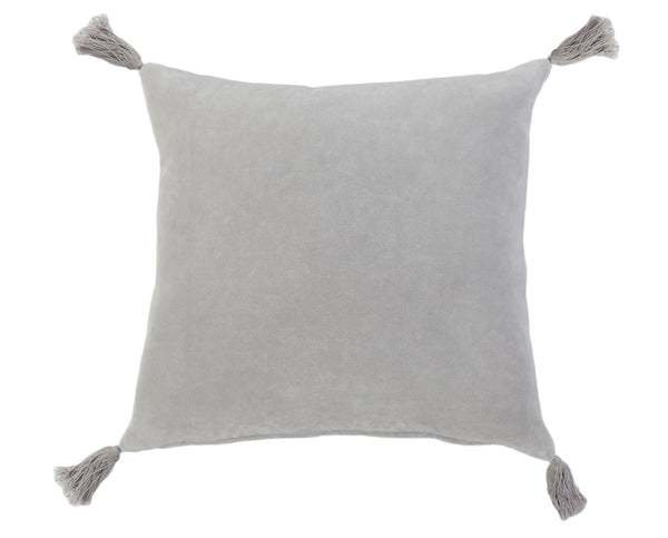 Pom Pom at Home - Bianca Light Grey Throw Pillow - Fig Linens