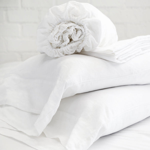 Pom Pom at Home - Louwie White Linen Sheets | Fig Linens