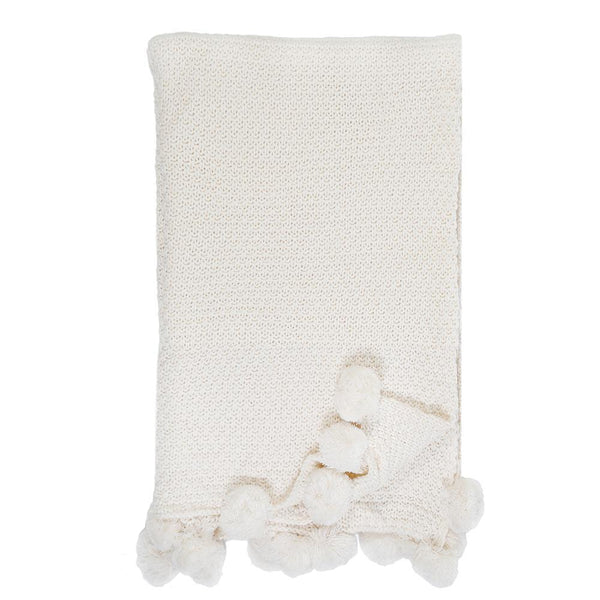 Pom Pom at Home - Riley Antique White Oversized Throw - Fig Linens