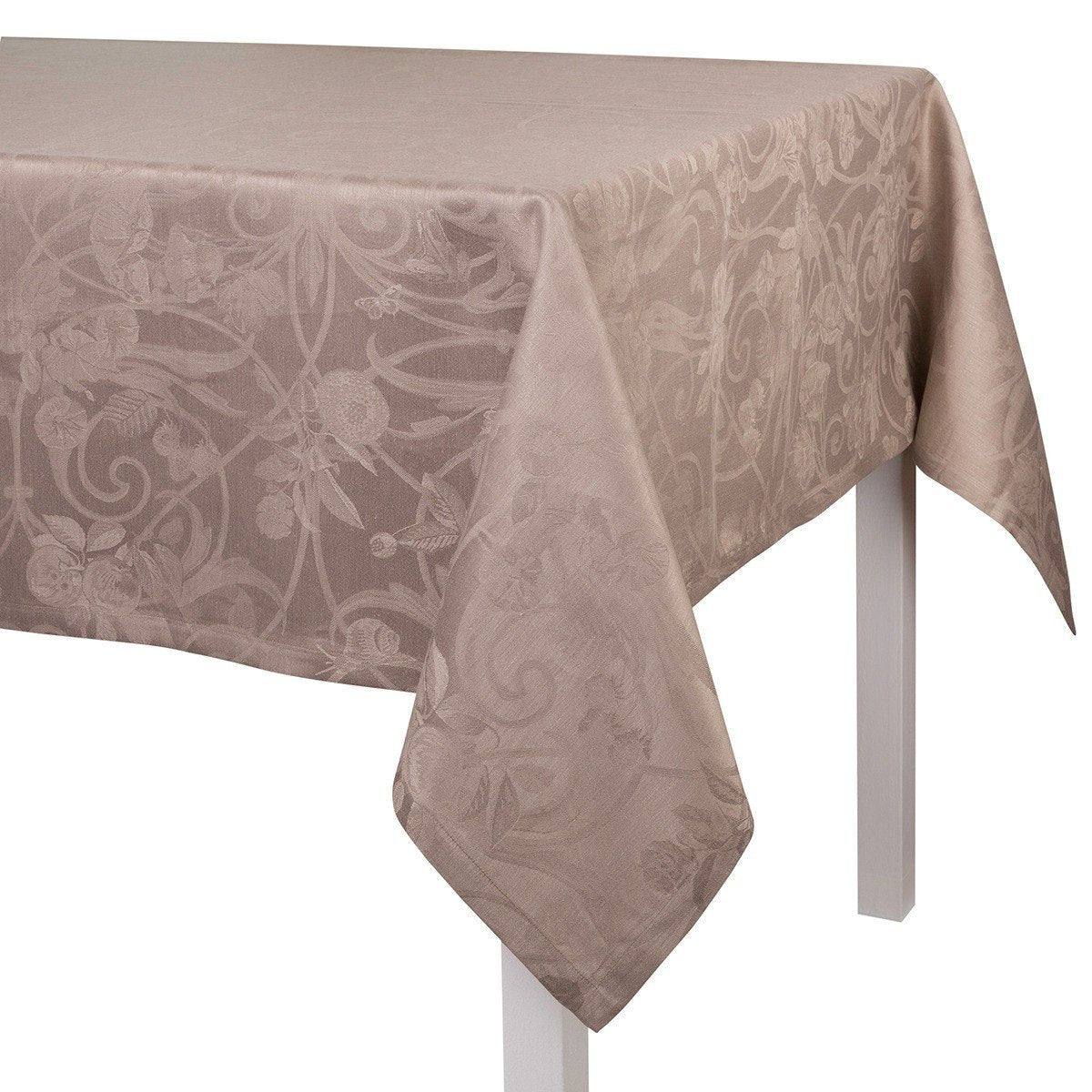Le Jacquard Français Table Linen Tivoli Black Pepper Fig Linens Tablecloth