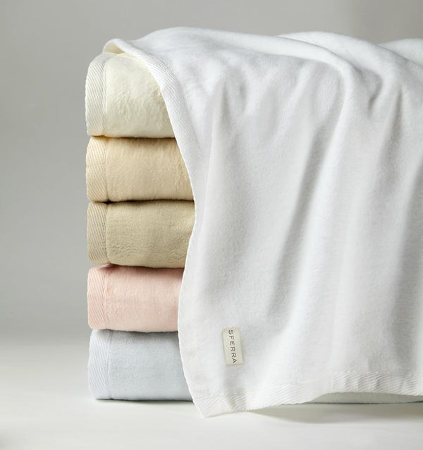 St Moritz Blanket by Sferra | Fig Linens and Home - Luxury cotton blankets